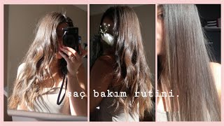 SAÇLARIM HAKKINDA HER ŞEY!   Nasıl Bakıyorum? + Saç Rengim + Saç Düzleştirme + Kullandığım Ürünler