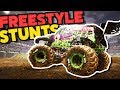 FREESTYLE Destruction! Double Front Flip In A Monster Truck! - Monster Jam Steel Titans
