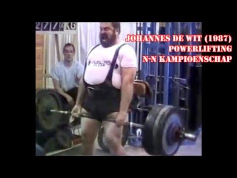 Johannes De Wit Noord-Nederlandse KAMPIOENSCHAP POWERLIFTING 1987