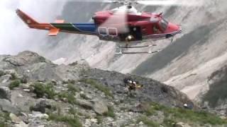 白馬岳大雪渓 大規模落石事故遭難救助 2005.8