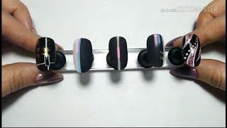 5 идей дизайнов для черных ноготочков.