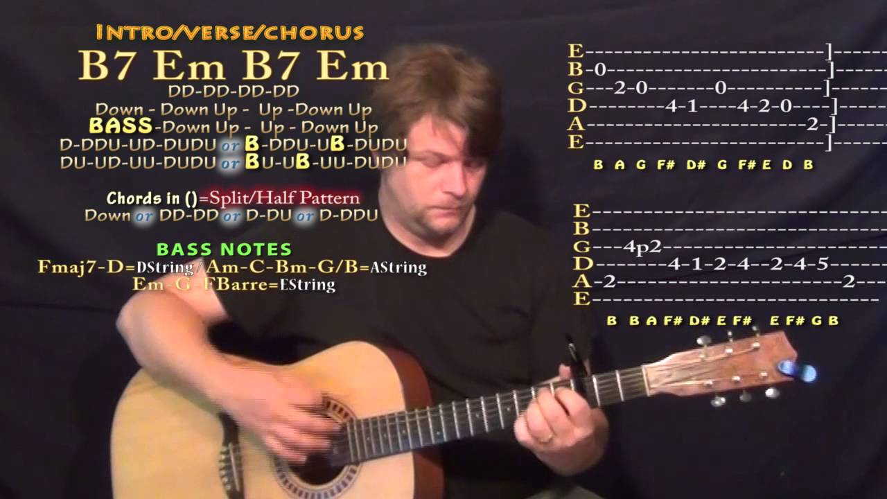 Right Hand Drake Guitar Lesson Chord Chart Capo 3rd Youtube