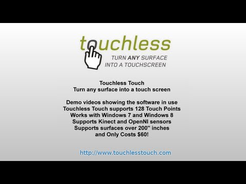 Turn any Surface into a Touch Screen - Touchless Touch
