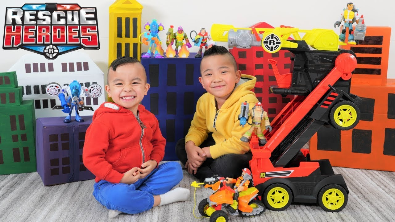 Rescue Heroes Epic Mission With Transforming Fire Truck CKN Toys