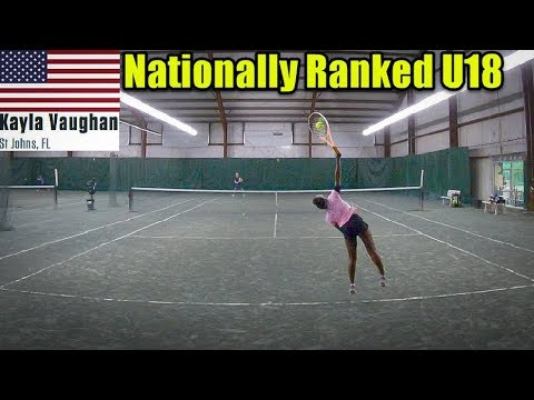 Hitting with Top 500 Female Recruit U18 - Kayla Vaughan