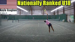 Tennis with Top 500 Female Recruit U18 - Kayla Vaughan