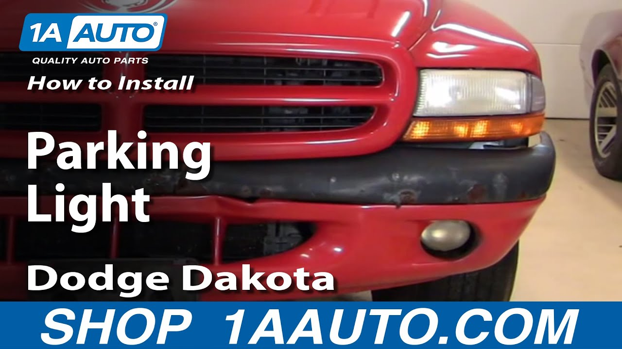 How To Install Replace Parking Light Dodge Dakota Durango 97 04 Rear Brake Lights Wiring Diagram For 1aautocom