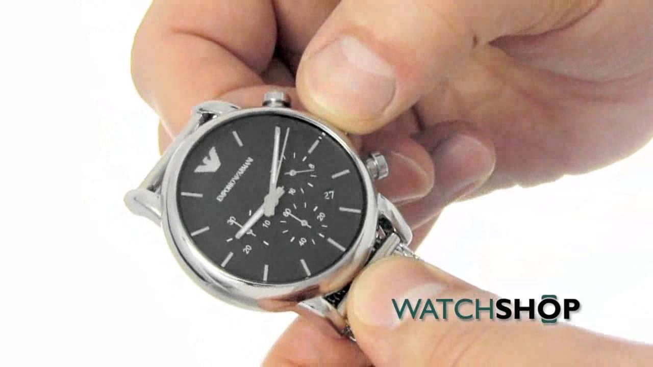 6360fa93de5 Men s Emporio Armani Chronograph Watch (AR1811) - YouTube