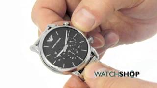 men s emporio armani chronograph watch ar1811