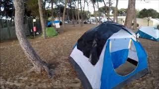 Campismo muito top na costa da Caparica.
