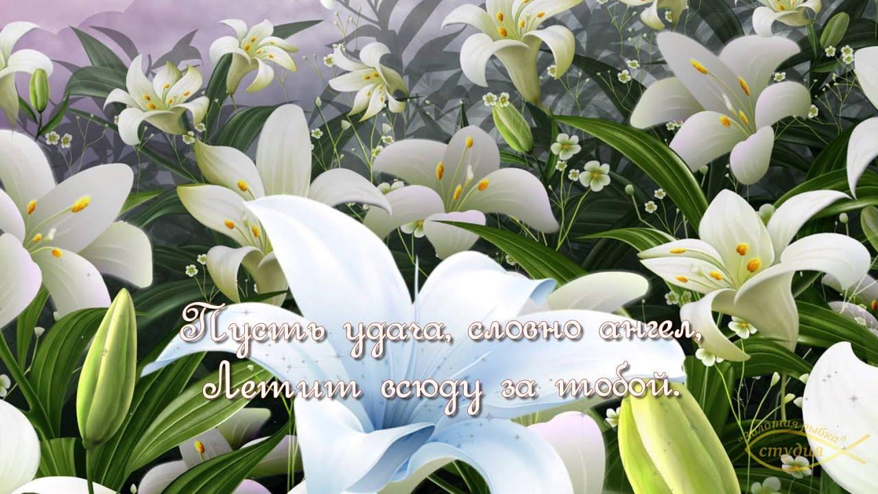 Картинки С Днём Рождения Цветы Лилии