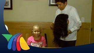Pelucas de cabello natural para niños con cáncer