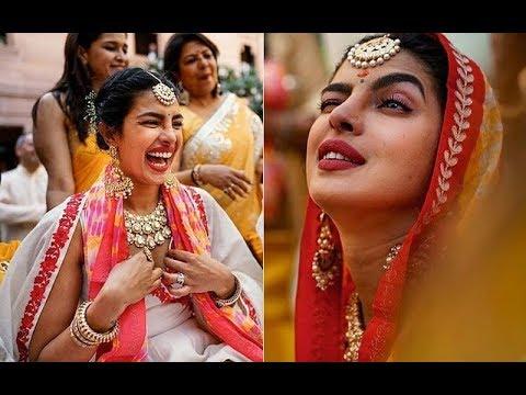Priyanka Chopra And Nick Jonas Haldi And Chooda Ceremony Pictures Go VIRAL