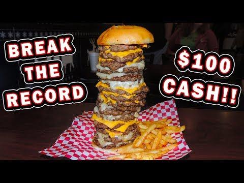 Fully Stacked Burger Challenge Record In Shreveport, Louisiana!!