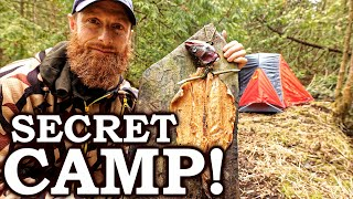 STEALTH CAMPING like a CRIMINAL (in lock-down!) | Rock Cooked Fish