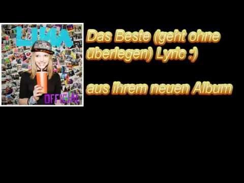 LINA Das Beste (Geht Ohne Überlegen) Lyric :)