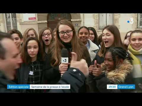 France 3 Lyon participe à la semaine de la presse à l'école
