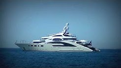 The ULTRA LUXURY US$ 120,000,000 Yacht ACE and her support vessel Garçon for Ace