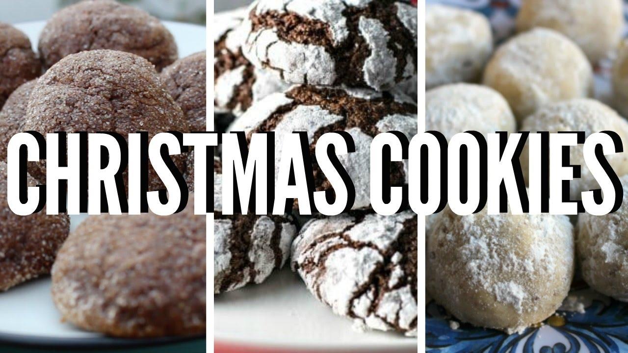Vegan Christmas Cookies 3 Recipes Youtube