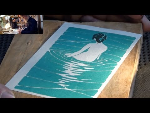 Woodblock Print - start to finish (in real time)