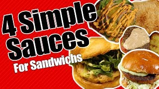 4 Simple Sauce Recipes for Sandwiches #NationalSandwichDay