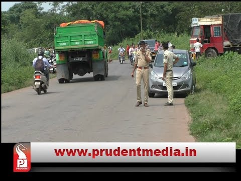 USGAON VILLAGERS STOPS TRUCK WITH ANIMAL WASTE AT RENDERING CENTRE _Prudent Media Goa