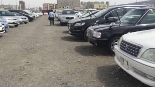 モンゴル旅行、中古車の売り場を視察