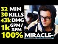 watch he video of 100% Miracle- WTF 1000 GPM/XPM Shadow Fiend 9k Plays Dota 2