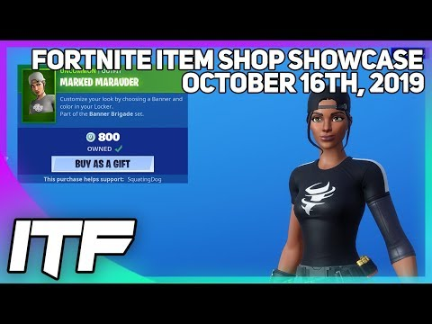 Fortnite Item Shop BANNER SKINS ARE BACK! [October 16th, 2019] (Fortnite Battle Royale)