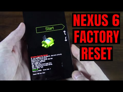 Nexus 6 Hard Factory Reset Fastboot Bootloader Recovery Mode