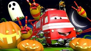 Поезд Трой -  Тина нашла огромную тыкву за городом!! - Автомобильный Город 🚄 детский мультфильм