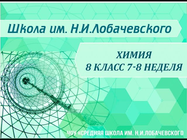 Химия 8 класс 7-8 неделя Строение электронных оболочек атомов