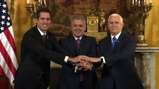 Venezuela's Guaido meets with US' Pence in Colombia