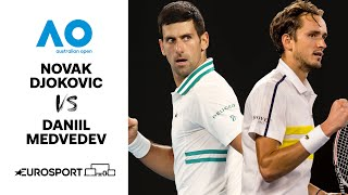 Novak Djokovic v Daniil Medvedev  | Australian Open 2021 - Highlights | Tennis | Eurosport