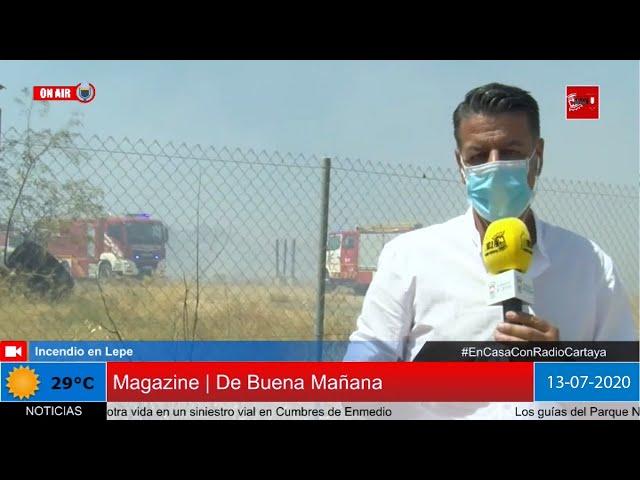 Radio Cartaya | Incendio en un asentamiento de chabolas en Lepe
