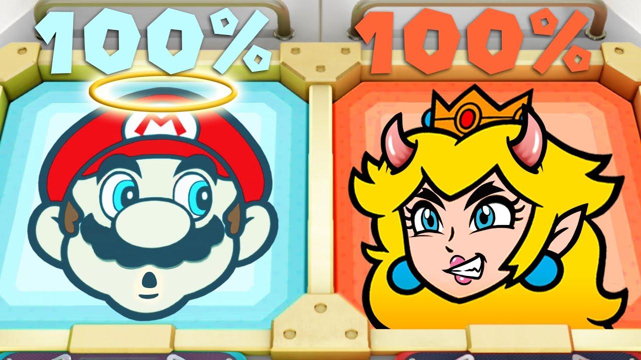 Super Mario Party MiniGames - Mario Vs Peach Vs Luigi Vs Daisy (Master Difficulty)