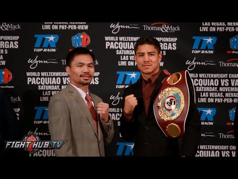 Manny Pacquiao vs. Jessie Vargas COMPLETE Kick Off Press Conference & Face Off Video