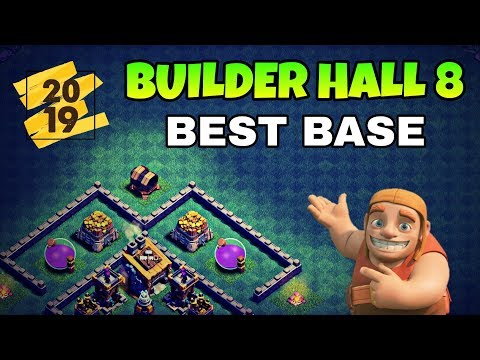 BUILDER HALL 8 BEST BASE LAYOUT 2019 | BEST BH8 BASE IN COC | CLASH OF CLANS