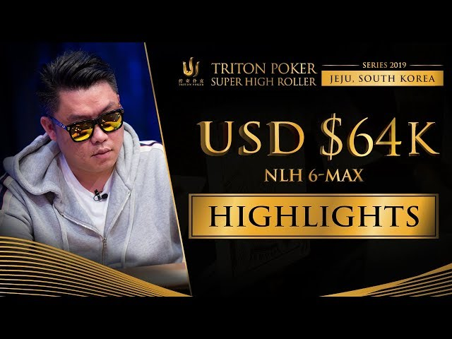 US$ 64k NLH 6-Max Event Highlights - Triton Poker SHR Jeju 2019