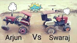 Swaraj 855 vs Arjun 605 Toy Tractor Model Tochan