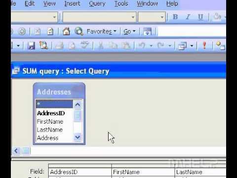 Access sum függvény