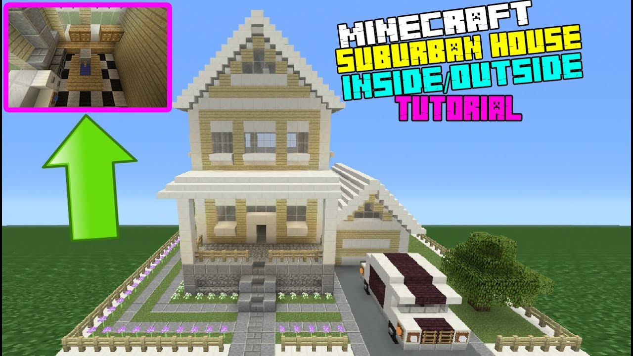 Minecraft Tutorial How To Make A Suburban House 7