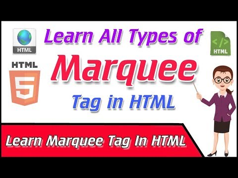 Learn All Types Of Marquee Tags Effects In HTML  - YouTube