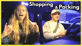Shopping, Wrestling & Packing for Vacation!