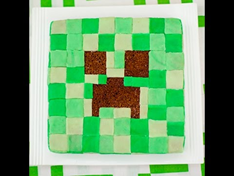 Minecraft Creeper Cake Design