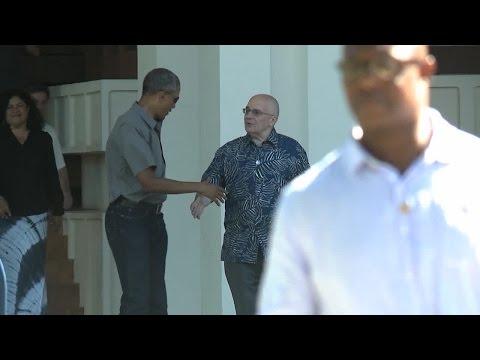 President Obama visits East-West Center