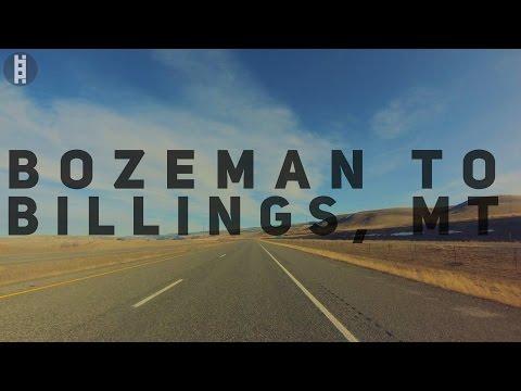 Bozeman Montana to Billings Montana in 4K