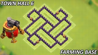 Clash of Clans - Best Town Hall 6 (TH6) Farming Base w/Air Sweeper