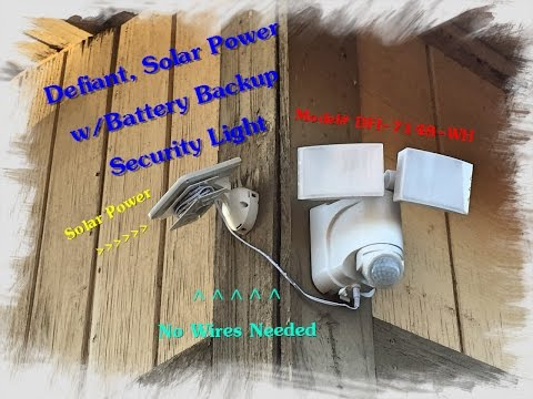 Home Depot review Solar Powered Motion LED Security Light