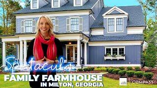 Spectacular Family Farmhouse with Pool in Milton, Georgia